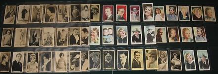 1920s-60s Lot of (166) Non Sports Actor & Actresses