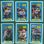 1972 Kelloggs All-Time Baseball Greats Complete Set (15) W/ (2) Babe Ruth