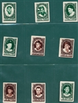 1961 Topps Stamps Lot of (76) W/ Aaron