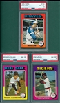 1975 Topps Lot of (7) W/ Koosman PSA 8