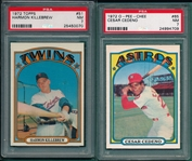 1972 Topps & O-Pee-Chee Lot of (6) W/ Killebrew PSA 7