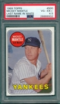 1969 Topps #500 Mickey Mantle PSA 4.5 *White Letters*