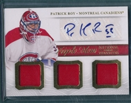 2014 National Treasures TM-ROY Patrick Roy Autograph/Triple Threads