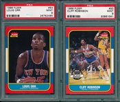 1986 Fleer BSKT #83 Orr & #93 Robinson, Lot of (2), PSA 9 *MINT*