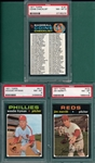 1971 Topps Lot of (7) W/ #161 Checklist PSA 8