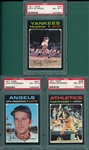 1971 Topps Lot of (7) W/ #105 Conigliaro PSA 8