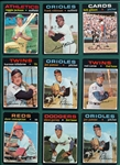 1971 Topps Lot of (92) W/ Reggie Jackson