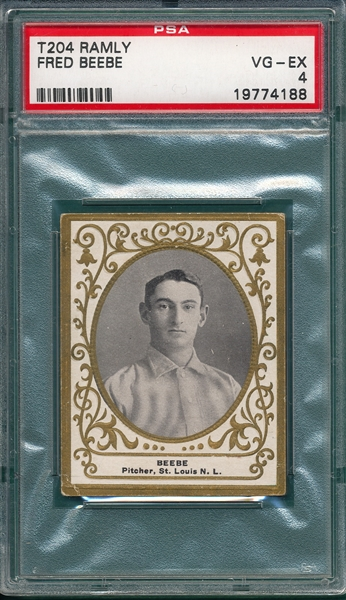 1909 T204 Fred Beebe Ramly Cigarettes PSA 4