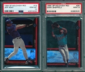 1994 SP Holoview, Red, #35 Sheffield PSA 9 & #19 Kent PSA 10, Lot of (2)