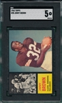 1962 Topps FB #28 Jimmy Brown SGC 5