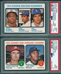 1973 Topps #609 Lopes, Rookie, PSA 8.5 & #65 ERA Leaders PSA 9 *MINT*, Lot of (2)