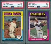 1975 Topps #61 Winfield & #280 Yastrzemski, Lot of (2), PSA