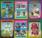 1975 Topps Baseball Complete Set (660) *Carter, Rice, Yount & Brett Rookies*
