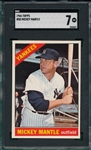 1966 Topps #50 Mickey Mantle SGC 7