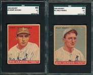 1933 Goudey #4 Schuble & #11 Rogell, Lot of (2) SGC 40