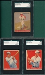 1933 Goudey #6 Dykes, #57 Clark & #182 High, Lot of (3) SGC 35