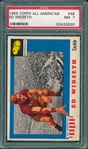 1955 Topps All American #48 Ed Widseth PSA 7