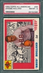 1955 Topps All American #39 Jerome Holland PSA 8