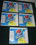 1971 O-Pee-Chee Baseball Wax Pack Wrapper Lot of (5)