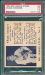 1950 Big League Stars #2 Chuck Connors PSA 1.5