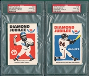1976/80 Laughlin Lot of (5) W/ Jackie Robinson PSA 10