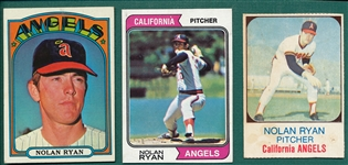 1972-85 Nolan Ryan Lot of of (9)