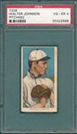 1909-1911 T206 Walter Johnson, Pitching, Piedmont Cigarettes PSA 4