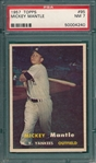 1957 Topps #95 Mickey Mantle PSA 7