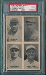 1929-30 Exhibits 4 On 1, W/ Sisler PSA 2 *White*