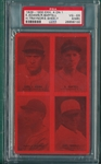 1929-30 Exhibits 4 On 1, W/ Traynor PSA 4 (MK) *Red*
