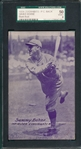 1926-29 Exhibits PC Back, Sammy Bohne, SGC 50 *Blank Back*