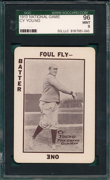 1913 National Game Cy Young SGC 96 *MINT*