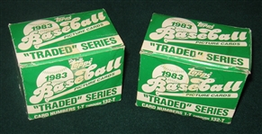 1983 Topps Traded Complete Sets, Lot of (2)