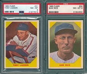 1960 Fleer Baseball Greats #31 Lazzeri & #34 Rice, Lot of (2) PSA 8