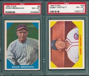 1960 Fleer Baseball Greats #8 Bresnahan & #29 Hartnett, Lot of (2) PSA 8