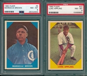 1960 Fleer Baseball Greats #9 M. Brown & #27 Appling, Lot of (2) PSA 8