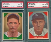 1960 Fleer Baseball Greats #60 Grove & #63 Ruffing, Lot of (2) PSA 8
