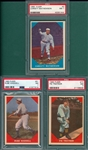 1960 Fleer Baseball Greats #61 Wadell, #77 Traynor & #2 Mathewson, Lot of (3) PSA 7