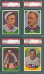 1960 Fleer Baseball Greats Lot of (4) W/ #46 Plank PSA 7