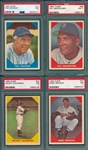 1960 Fleer Baseball Greats Lot of (4) W/ #10 Speaker PSA 7