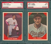 1960 Fleer Baseball Greats Lot of (5) W/ #41 Baker PSA 7
