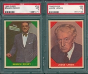 1960 Fleer Baseball Greats Lot of (5) W/ #55 Rickey PSA 7