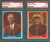 1960 Fleer Baseball Greats Lot of (5) W/ #14 Mack PSA 7