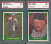 1960 Fleer Baseball Greats Lot of (6) W/ #59 Grimes PSA 7