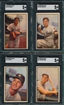 1953 Bowman Color Lot of (4) W/ #66 Parnell SGC 5