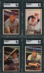 1953 Bowman Color Lot of (4) W/ #23 Wehmeier SGC 5