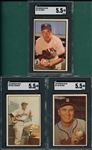 1953 Bowman Color #037 Wilson, #39 Richards & #76 Hearn, Lot of (3) SGC 5.5