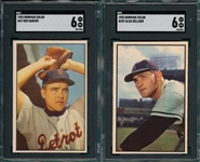 1953 Bowman Color #47 Garver & #107 Kellner, Lot of (2) SGC 6