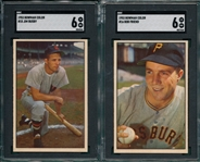 1953 Bowman Color #15 Busby & #16 Friend, Lot of (2) SGC 6