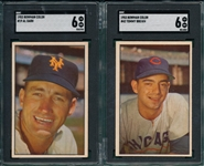 1953 Bowman Color #19 Dark & #42 Brown, Lot of (2) SGC 6